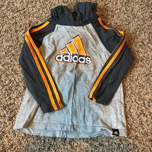 ADIDAS orange and gray hoodie